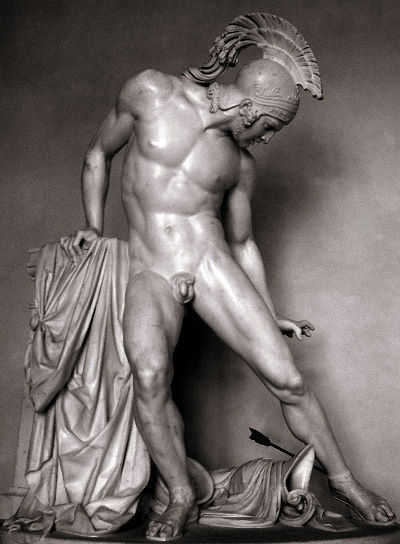Achilles. Roman sculpture at Villa Reale.