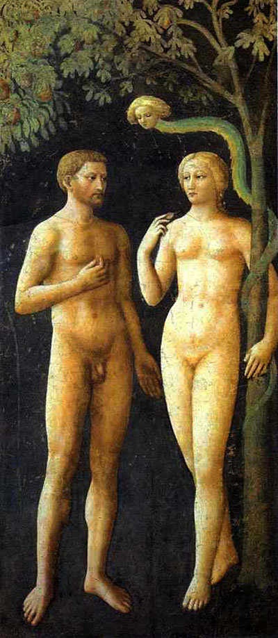 Adam and Eve, by Masolino.
