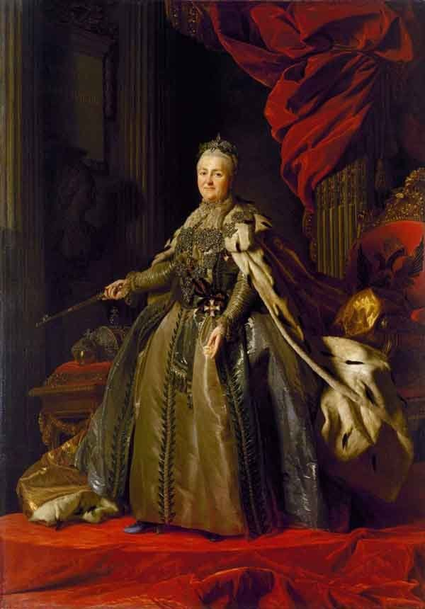 Catherine the Great of Russia. Painting by Alexander Roslin, 1777.