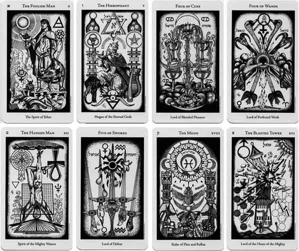 Cards from the Hermetic Tarot.