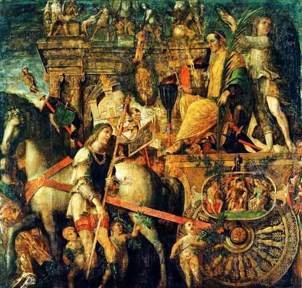 Julius Caesar on his chariot, by Andrea Mantegna 1492