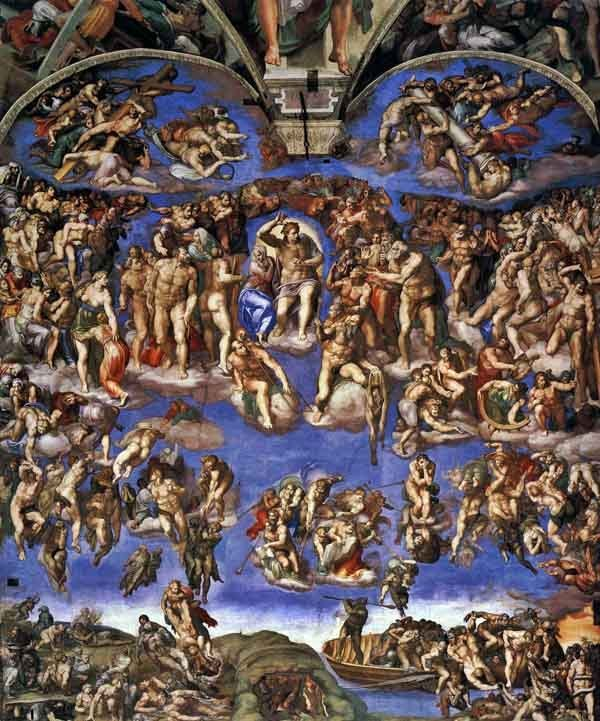 The Last Judgment, by Michelangelo 1541.