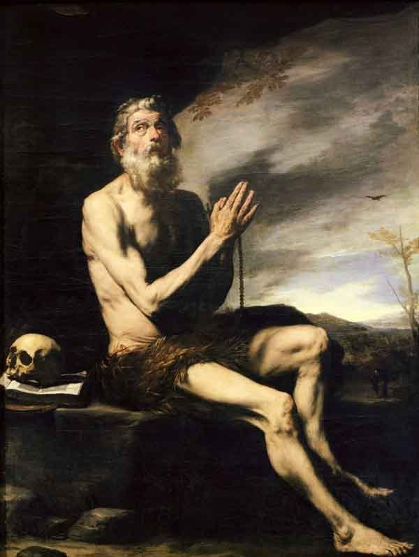 Saint Paul of Thebes, the Hermit. Painting by Jusepe de Ribera, 17th century.