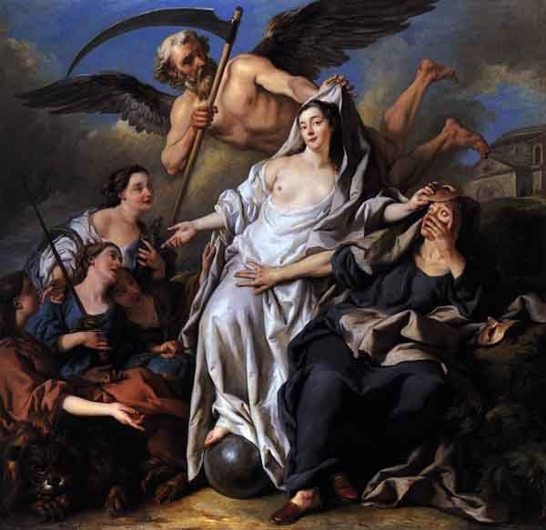 Allegory of Time unveiling Truth, by Jean François de Troy, 1733.