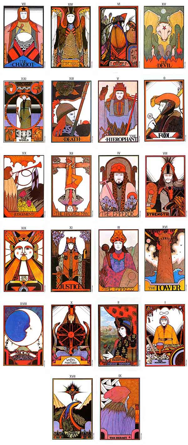 The Major Arcana of the Aquarian Tarot.