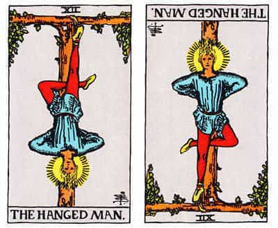 The Hanged man regular and reversed.