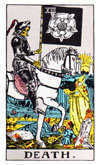 The Tarot card Death.