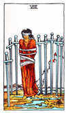 The 8 of Swords Tarot card.