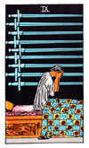 Tarot Minor Arcana card: Nine of Swords