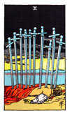 Tarot Minor Arcana card: Ten of Swords