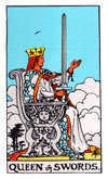 Tarot Minor Arcana card: Queen of Swords