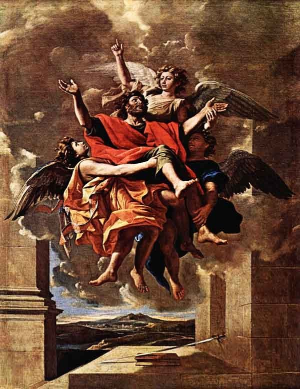 The Vision of Saint Paul. Painting by Nicolas Poussin, 1650.
