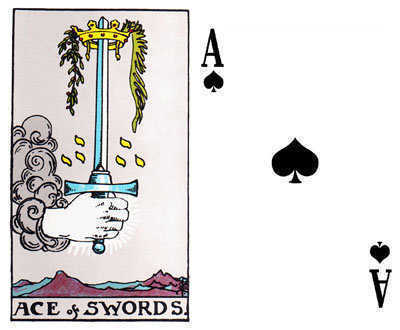 The Ace of Swords and the Ace of Spades.
