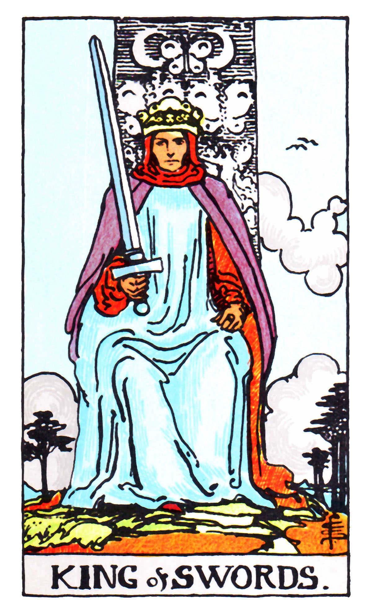 meaning and interpretation king swords tarot card