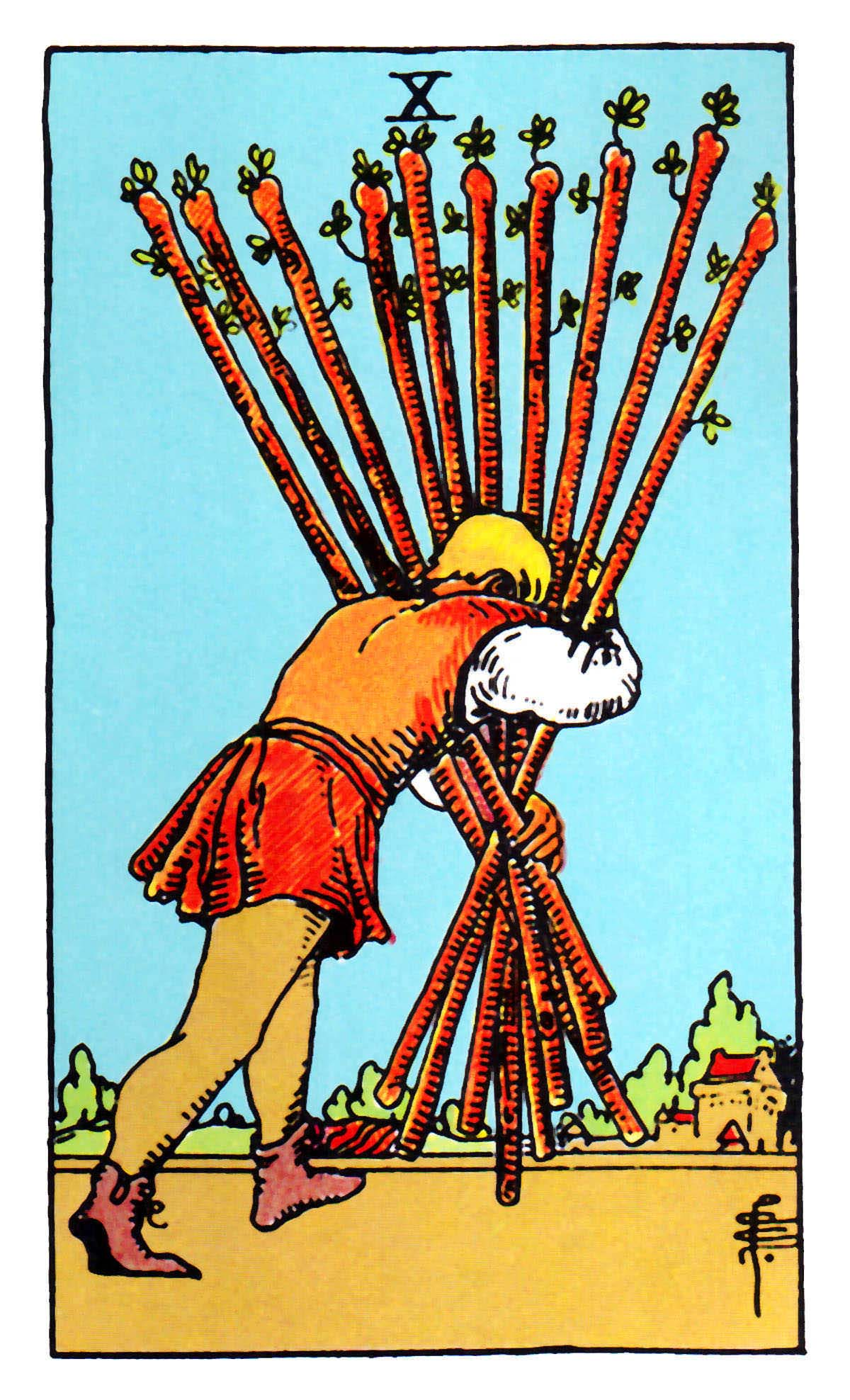 Tarot X The Wheel Of Fortune: The Wands Suit Tarot Cards Meanings In Readings