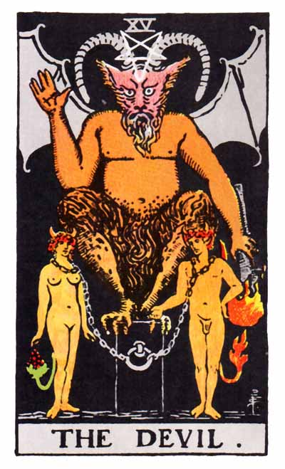 The Devil Major Arcana Tarot card.