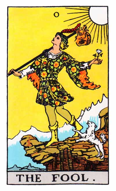 The Fool Major Arcana Tarot card.