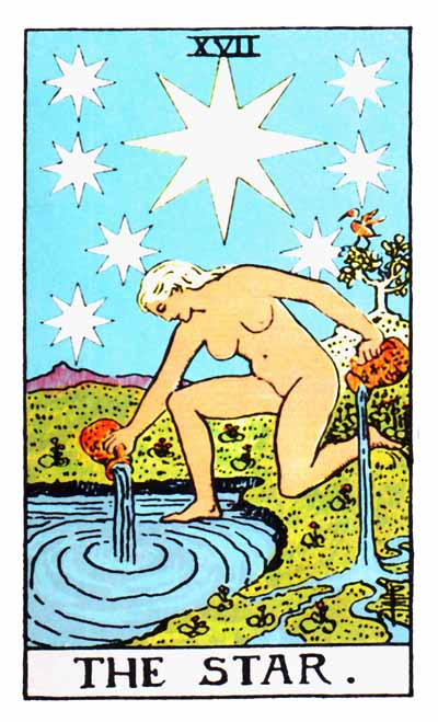 The Star Major Arcana Tarot card.