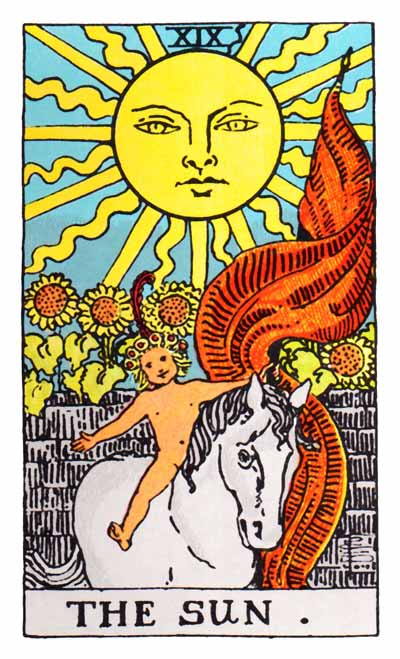 The Sun Major Arcana Tarot card.