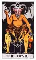 The Devil Tarot card.