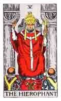 The Hierophant Tarot Card and its meaning