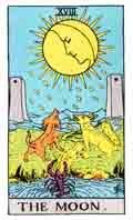 The Moon Tarot Card and its meaning