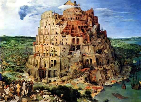 The Tower of Babel, by Pieter Bruegel the Elder, 1563.